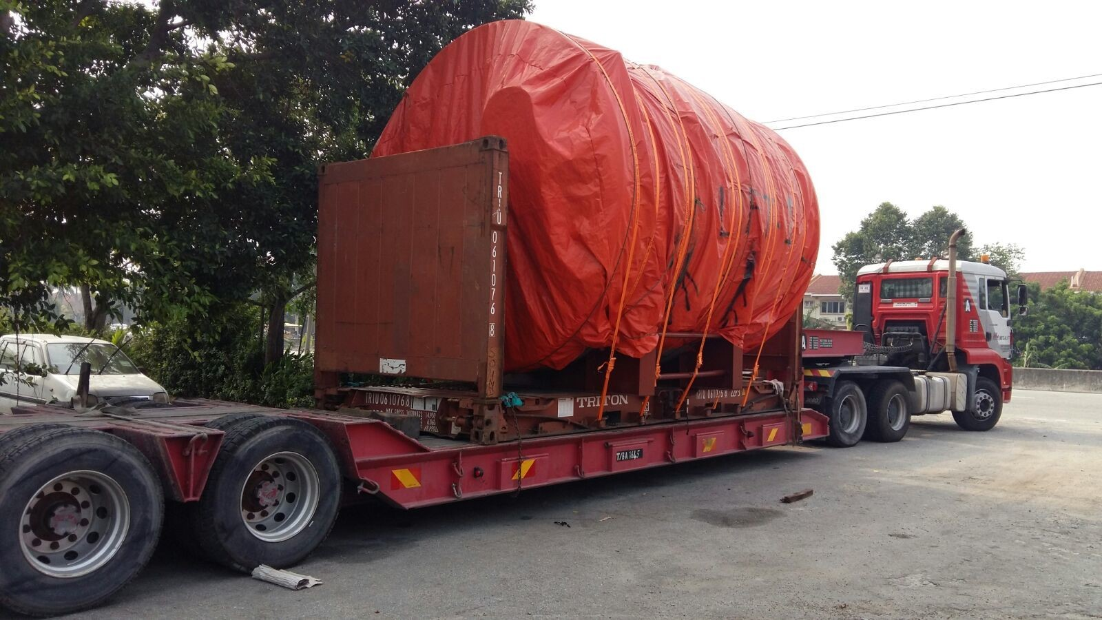 Metal structure for plant from Port Klang, Malaysia to USA